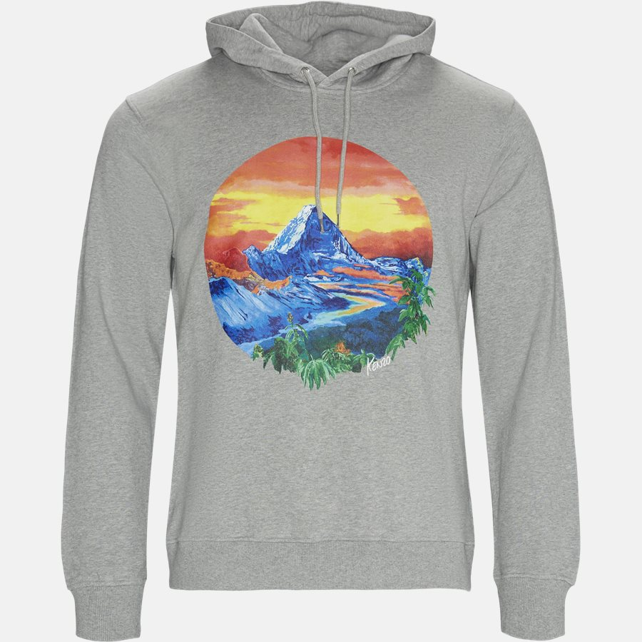 W3624ME - Sweatshirts - Regular fit - GRÅ MEL - 1